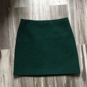 Madewell Kelly Green Wool Mini Skirt